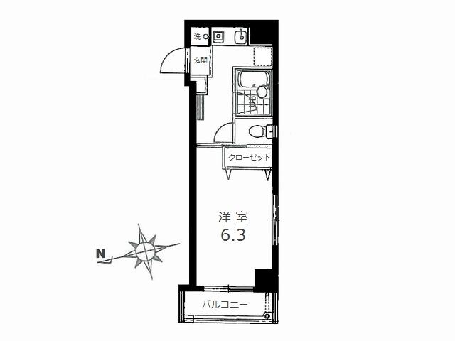 カーサアレグレ 2-A 間取図