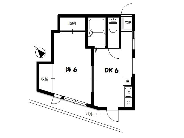 シェメールモーリ203 間取図