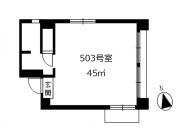 シルク玉川長崎屋ビル 503号室 間取図