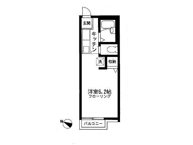 ファミーユ新町203 間取図