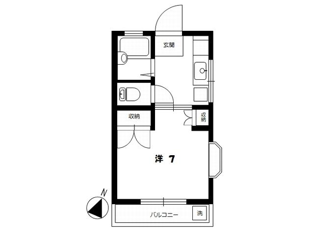 リバーサイド玉 301号室 間取図