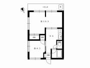 ハウス工藤302号室 間取図
