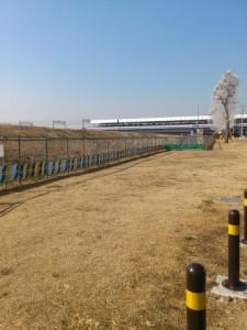 多摩川の新堤防
