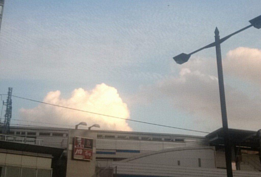 二子玉川 地震雲?違うね