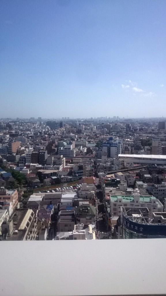 タワーレストラン昭和からの眺望